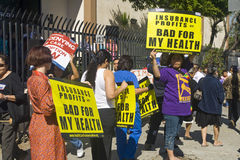 Los Angeles Health Care Rally Royalty Free Stock Photo
