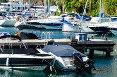 LOS ANGELES HERRADURA, HISZPANIA, MAJ 26 i mieszkania, -, 2018 luksus łodzie Zdjęcie Stock