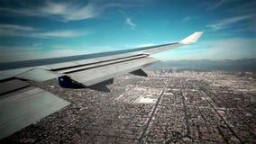 Los Angeles Het landen boven La stock video