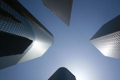 Los Angeles high rise. Buildings Stock Photo