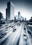 Los Angeles Highway. Highway true the Los Angeles downtown Stock Photo