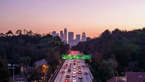 Los Angeles Highway stock video footage