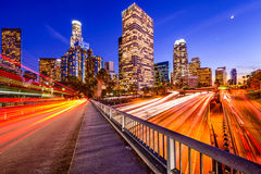 Los Angeles Highway Cityscape Stock Photo