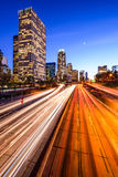 Los Angeles Highway Cityscape Royalty Free Stock Image