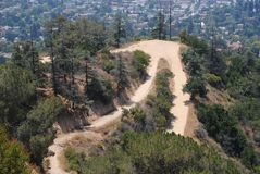 Los Angeles Hiking Trail Royalty Free Stock Images