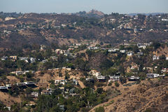 Los Angeles hills Royalty Free Stock Photography