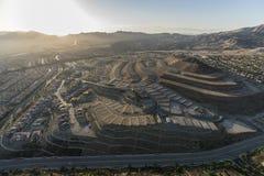 Los Angeles Hilltop Construction in Porter Ranch California stock image