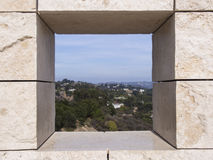 Los Angeles Through a Hole Royalty Free Stock Image
