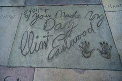 Los Angeles Hollywood går av berömmelse royaltyfria foton