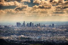 Los Angeles from Hollywood Hill stock photography