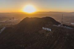 Los Angeles Hollywood teckenantenn arkivfoto