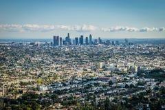 Los Angeles horisont - värdsstad av 2028 OS:er Arkivfoton