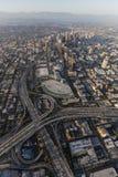 Los Angeles i stadens centrum antenn Royaltyfria Foton
