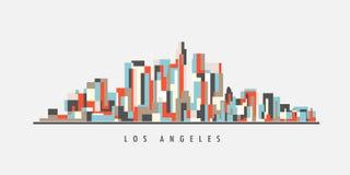 Los Angeles i stadens centrum geometrisk konst royaltyfri illustrationer