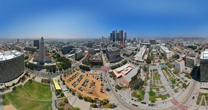 LOS ANGELES I STADENS CENTRUM - 360 GRADER PANORAMA - SURRSKOTT Royaltyfria Foton