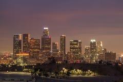 Los Angeles i stadens centrum nattplats Royaltyfria Foton