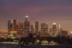 Los Angeles i stadens centrum nattplats Royaltyfri Foto