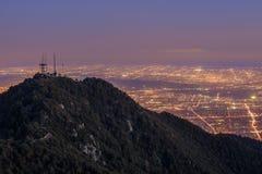 Los Angeles i stadens centrum sikt från överkanten, Mt wilson Fotografering för Bildbyråer