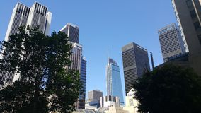 Los Angeles i stadens centrum skyskrapor Royaltyfri Foto