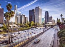 Los Angeles im Stadtzentrum gelegen stockfotos