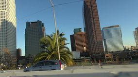 Los Angeles im Stadtzentrum gelegen stock footage