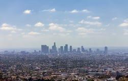 Los Angeles im Stadtzentrum gelegen, Augenansicht des Vogels Lizenzfreie Stockfotografie