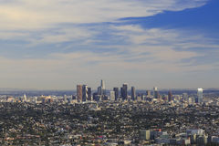 Los Angeles im Stadtzentrum gelegen, Augenansicht des Vogels Lizenzfreie Stockfotos