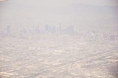 Los Angeles im Stadtzentrum gelegen, Augenansicht des Vogels am sonnigen Tag stockfotografie