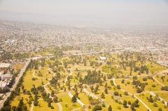 Los Angeles im Stadtzentrum gelegen, Augenansicht des Vogels am sonnigen Tag Lizenzfreies Stockbild