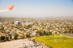 Los Angeles im Stadtzentrum gelegen, Augenansicht des Vogels am sonnigen Tag stockbild