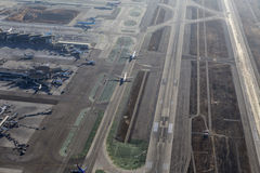 Los Angeles International Airport Aerial View of Airplanes Appro Stock Image