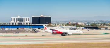 Los Angeles International Airport (LAX). LOS ANGELES, USA - SEP 26, 2015: Air China aircraft at the Los Angeles International Airport (LAX) , the primary airport Stock Photo