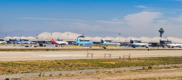 Los Angeles International Airport (LAX). LOS ANGELES, USA - SEP 26, 2015: Los Angeles International Airport (LAX) , the primary airport serving the Greater Los Stock Photos
