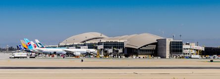 Los Angeles International Airport (LAX). LOS ANGELES, USA - SEP 26, 2015: Los Angeles International Airport (LAX) , the primary airport serving the Greater Los Stock Photo
