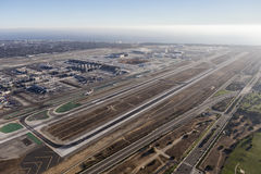 Los Angeles International Airport Runways Aerial Stock Photos