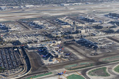 Los Angeles International Airport Terminals Aerial View Royalty Free Stock Image