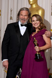 Natalie Portman,Jeff Bridges Royalty Free Stock Photography