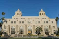 Special building of the USPS in downtown. Los Angeles, JUL 12: Special building of the USPS in downtown on JUL 12, 2018 at Los Angeles, California stock images