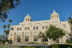 Special building of the USPS in downtown. Los Angeles, JUL 12: Special building of the USPS in downtown on JUL 12, 2018 at Los Angeles, California stock image