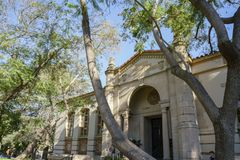 South Pasadena public library. Los Angeles, JUN 15: Exterior view of South Pasadena public library on JUN 15, 2017 at Los Angeles, California, U.S.A Royalty Free Stock Images
