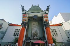 The famous TCL Chinese Theatre in Hollywood area. Los Angeles, JUN 23: The famous TCL Chinese Theatre in Hollywood area on JUN 23, 2017 at Los Angeles stock photos