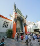 The famous TCL Chinese Theatre in Hollywood area. Los Angeles, JUN 23: The famous TCL Chinese Theatre in Hollywood area on JUN 23, 2017 at Los Angeles royalty free stock image
