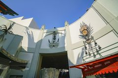 The famous TCL Chinese Theatre in Hollywood area. Los Angeles, JUN 23: The famous TCL Chinese Theatre in Hollywood area on JUN 23, 2017 at Los Angeles stock photo