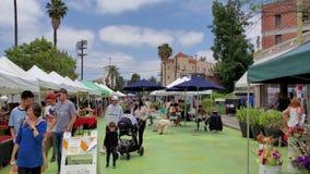 Flea market on Sunset Triangle Plaza