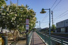 South Pasadena metro station. Los Angeles , JUN 24: South Pasadena metro station on JUN 24, 2015 at Los Angeles, California Royalty Free Stock Image