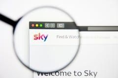 Los Angeles, Kalifornia, usa - 28 2019 Luty: Brytyjskiego nieba strony internetowej Nadawczy homepage Brytyjski nieba transmitowa obraz stock