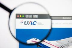 Los Angeles, Kalifornia, usa - 14 2019 Luty: Zlanego samolotu strony internetowej kosmiczny homepage Zlany samolotu logo zdjęcia royalty free