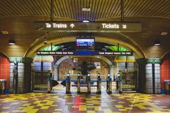 Los Angeles, Kalifornia, usa - Styczeń 4, 2019: Stacja Metra Hollywood, winograd/ zdjęcie stock