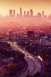 Los Angeles - Kalifornien stadshorisont Arkivbild