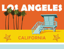 Los Angeles Kalifornien strand Arkivbild